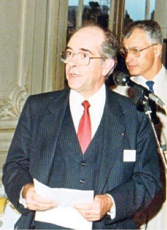 Michel Niclause au Congrès de la Société Chimique de France (Nancy 1984).